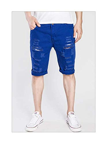 Denim Shorts Men 2019 Brand Fashion Casual Short Jeans Korean Comfortable Chino Shorts Royal Blue XXXL Royal Silk Boxer Shorts