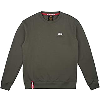 Alpha Industries Basic Small Logo Sweatshirt Oliv L
