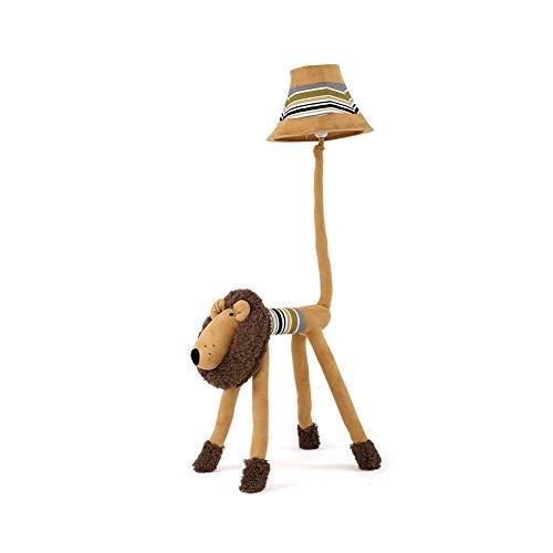 Modern style Lámpara de pie de dibujos animados Luz de modelado de león Luces lindas para la habitación del bebé Dormitorio de los niños Luces de tierra Lectura linda Luces de aprendizaje Sombra y bas