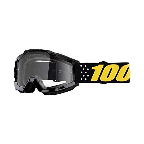 100 Percent Masque Motocross 2019 Accuri Pistol Clear Lens (Default, Noir)