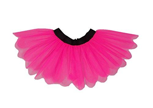 Honey B's® Neon Pink 80's Tutu Skirt - Plus Size 2XL, 3XL