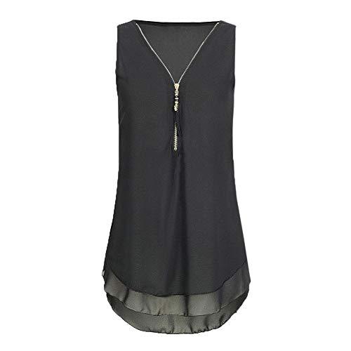 Riou - Blusas y Camisa de Gasa Mujer Primavera Elegante...