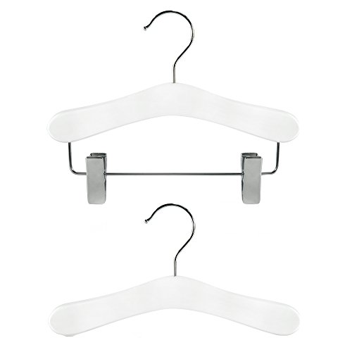 hangerworld-set-of-12-childrens-white-wooden-top-clip-coat-hangers-for-baby-toddler-clothes-25cm-10-