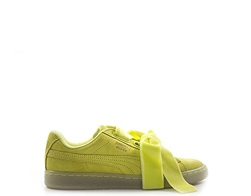 Puma Suede Heart Reset Femme Baskets Mode Jaune, Jaune, 38 EU (5 UK)