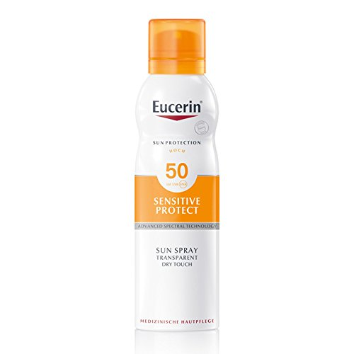Eucerin Sensitive Protect Sun Spray Transparent Dry Touch LSF 50, 200 ml Spray -
