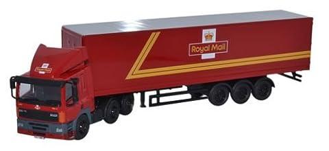OXFORD DIECAST 76DAF001 DAF 85 40ft Box Trailer Royal