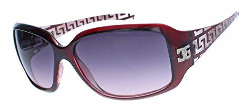amashades Medusa Styles GIANNI MILANO klassische Damen Sonnenbrille gelaserter Rahmen Designer Look GV34 (Merlot)