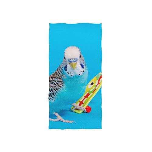 Papagei Spielen Skateboard Weiche Spa Strand Badetuch Fingerspitze Handtuch Waschlappen Für Baby Erwachsene Bad Strand Dusche Wrap Hotel Travel Gym Sport 30x15 Zoll
