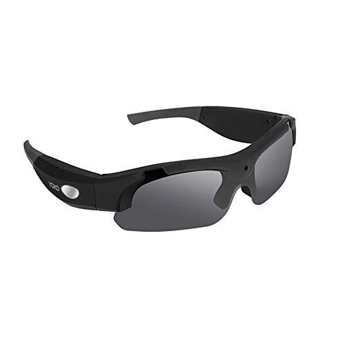 YUN GLASSES@ Sonnenbrille mit Kamera GB SD Karte HD 1080P Video Recorder Kamera Brille für IOS aktualisiert polarisierten Sonnenbrillen schwarz
