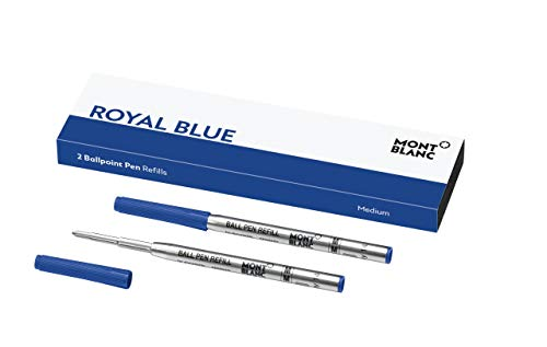 """Montblanc """"Royal Blue"""" 124493 Kugelschreiber Ersatzminen M - 2 x Kugelschreibermine blau - Ballpen Refill"""