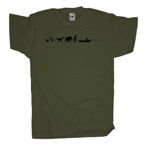 Ma2ca - 500 Mio Years - Hochseeangeln Angler T-Shirt Olive