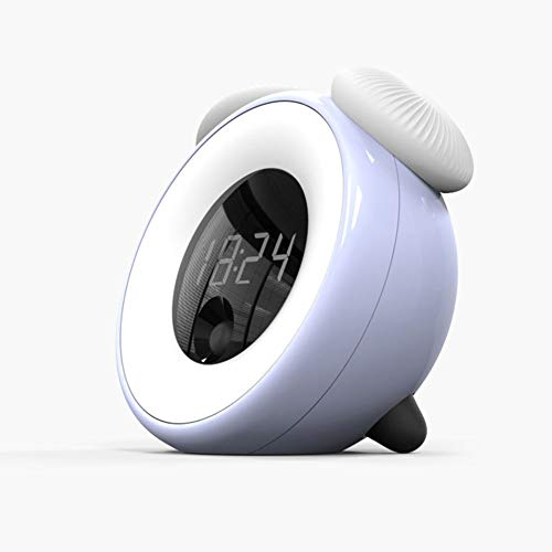 GYFHMY Niños Despertador Noche luz de inducción del Dormitorio de la lámpara de la mesita del bebé Descanso Ahorro de energía LED de Carga atenuación Inteligente Tiempo sueño lámpara Seta