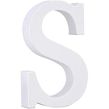 Venkaite DIY Lettres en bois A-Z de f/ête danniversaire de mariage Loisirs Cr/éatifs Alphabet Blanc Bois H