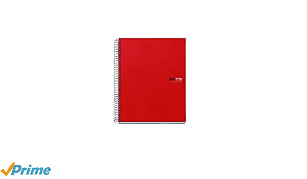 colori 8 formato A4 MR Basicos 42002-Quaderno cuadricula polipropilene colore: rosso 200 pagine