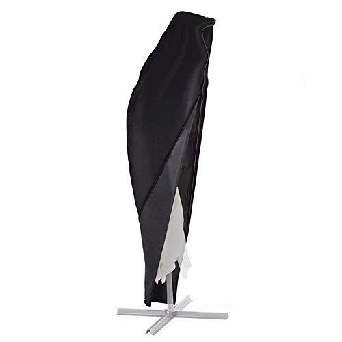 BougeRV Sonnenschirm Schutzhülle Wasserdicht Sonnenschirm Hülle Cantilever Sonnenschirmhülle Ampelschirm mit UV-Schutz und Reißverschluss für Garten Outdoor (265cm) (Sonnenschirm Ft 9)