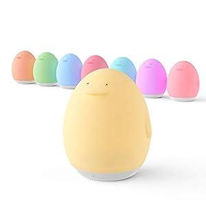 VAVA LED Nachtlicht für Kinder Wiederaufladbare USB Silikon Pinguin Baby Einschlafhilfen Touch Control dimmbar mit Warm…