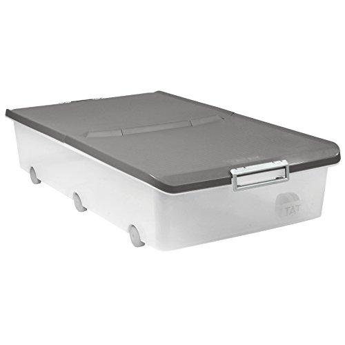 Tatay Caja de Almacenamiento Multiusos bajo Cama Ruedas 63 l de Capacidad plástico Polipropileno Libre...