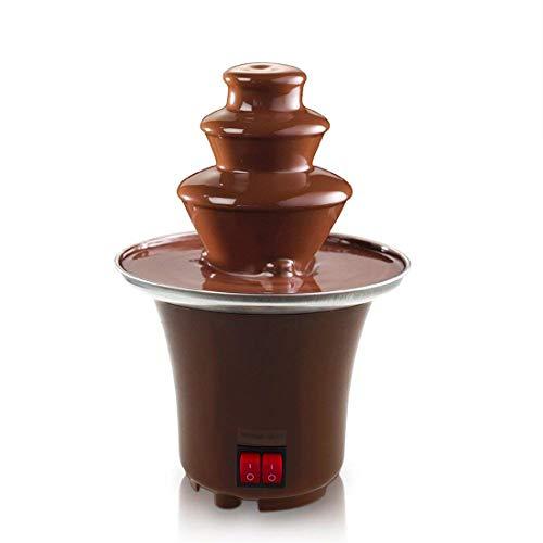 Mini Chocolate Fondue Fountain Edelstahl 3 Tier Cascading Deluxe Electric Dessert für Party Wedding...