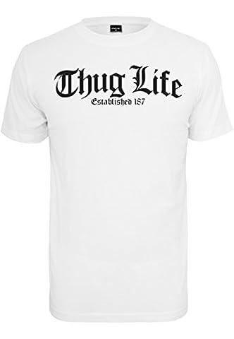 Thug Life Old English T-Shirt weiß (XL)