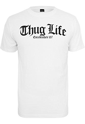 Thug Life T-shirt (Thug Life Old English T-Shirt weiß (M))