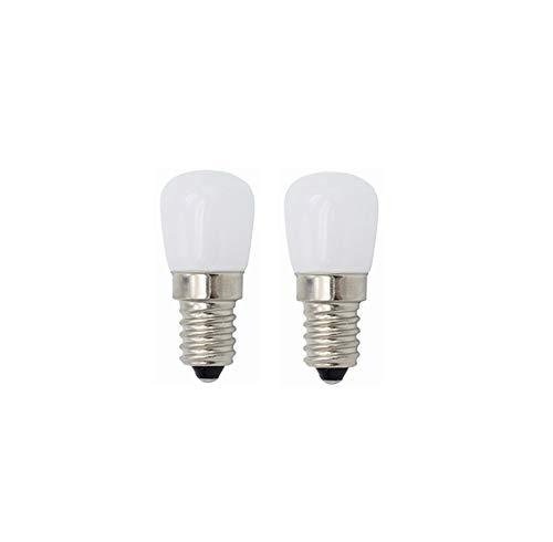 YQXR Beleuchtung Lampe, Kühlschrank-Glühlampen E14 LED-Birnen 3W, Vintage LED-Glühlampen für Kühlschrank-Kühlschrank, Dunstabzugshaube, die 220V 2pcs, Nähmaschine beleuchtet (Farbe : Kühles Whtie) - Wachsen Kühlschrank