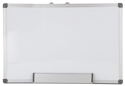 2 Stück Idena 60043 - Whiteboard 60 x 90 cm, Alu-Rahmen, mit Stiftablage -