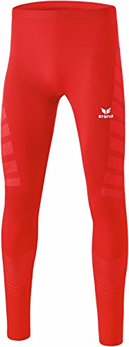 Erima Herren Functional Tight mit Body-Mapping, aus schnelltrocknendem Funktionsmaterial, rot, L