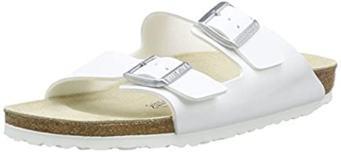 Birkenstock Arizona, Unisex-Adults' Sandals, White (White), 4.5 UK (37 EU)