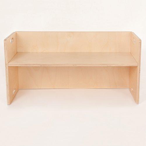 FLIXI Kindermöbel – Kinder Sitzbank für Sitzgruppen aus Holz – mitwachsende Möbel mit Wendehocker – aus Birken-Multiplexholz