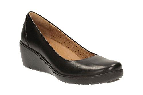 clarks-womens-unstructured-wedge-pumps-shoes-un-cass-black-leather