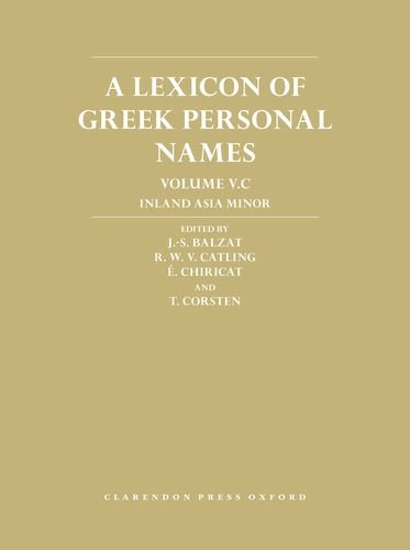 Balzat, J: Lexicon of Greek Personal Names