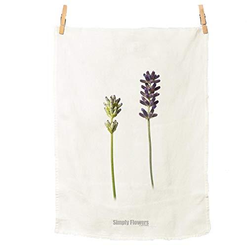 Simply Flowers - Trockentuch - Geschirrtuch - Küchentuch - Lavendel - Baumwolle - 50 x 70 cm - Geschirrtücher Lavendel