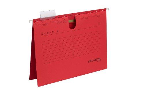 Preisvergleich Produktbild Jalema 2655814200 Atlanta Serie E Hängehefter A4 kaufmännische Heftung, 25er Packung, rot