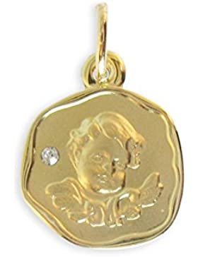 Schutzengel Anhänger mit Zirkonia echt 585 Gold 14 Karat (Art 213267) GRATIS-SOFORT-GRAVUR