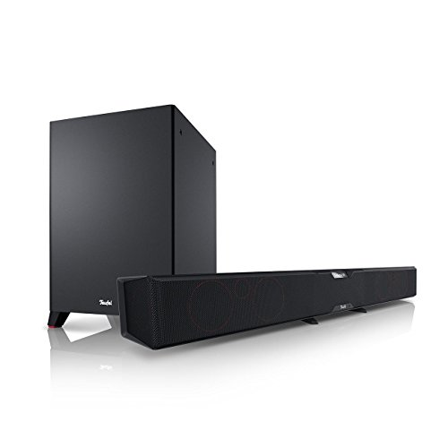 Teufel Cinebar Pro Schwarz Soundbar Sounddeck Surround Dolby digital HD ARC CEC 3D 5.1 HD Sound Blu-ray Blu-ray-System Koaxial DD Digital Ethernet