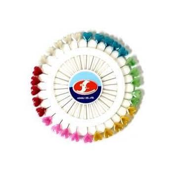 AKORD Herzform Craft Pins Rad, mehrfarbig