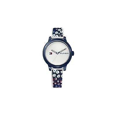 Tommy Hilfiger La mujer azul del reloj del silicón floral Ashley 1781778