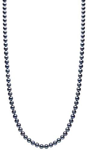 Kimura Pearls Or Blanc 9Carats 8mm Perles d'eau douce de culture rond semi Noir Bracelet