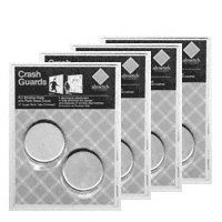 CRL Satin Aluminum Window and Door Crash Guard Safety Discs- 8 Pack 3188353 by C.R. Laurence -