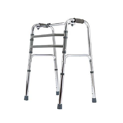 Deambulatore   Rollator Pieghevole Scorrevole In Alluminio Leggero   Altezza Regolabile   Per Anziani E Disabili   Leggero Antiscivolo