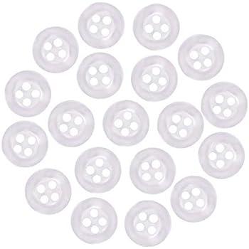 acrylique 20 mm Boutons ronds avec 4 trous Pack de 20