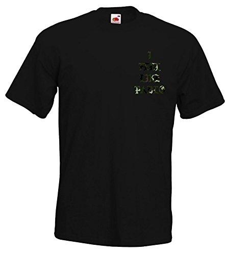 TRVPPY Herren T-Shirt I FEEL LIKE PABLO Camouflage Look in vielen versch. Farben mit Rücken -und Brustaufdruck, Gr. S-5XL Camo-Schwarz