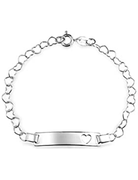 Bling Jewelry Sterling Silber Herz Kette Baby Armband 6 in
