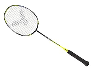 Victor Arrow Speed 12 G5 Strung Badminton Racket String Tension Upto 33lbs (Yellow/Black) (3U)
