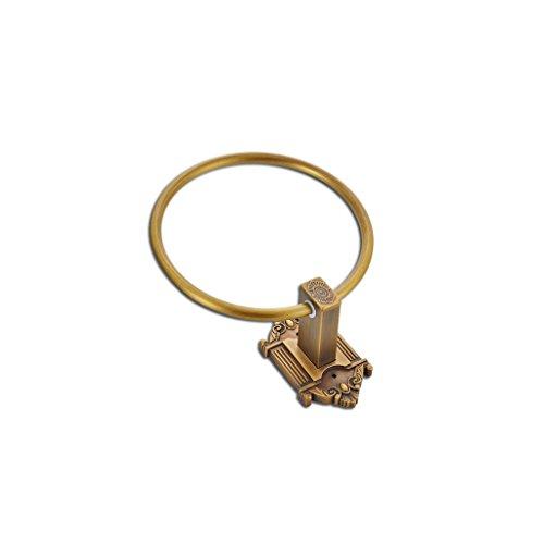 LI JING SHOP- Rame puro intagliato retro stile europeo anello di tovagliolo anello di tovagliolo cinese barra di tovagliolo del tovagliolo della cremagliera Diametro 16.0CM 1 Set di 1