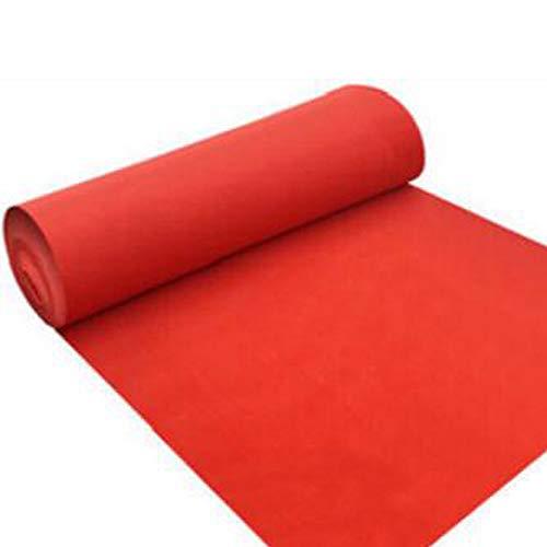 Red Carpet Essential Hollywood Weihnachtsfeier Dekoration Wegwerf Red Dicke Rutschfeste Indoor Outdoor Hochzeitsdekoration Geburtstag Party Runway Teppich (Red Carpet Event Dekorationen)