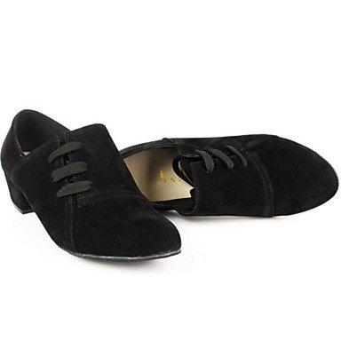 XIAMUO Nicht anpassbar - Die Frauen tanzen Schuhe moderne Wildleder niedrigem Absatz Andere Schwarz