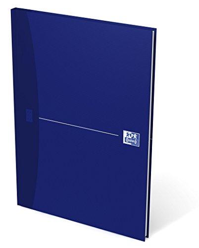 OXFORD 100102357 Gebundenes Buch Essentials A4 kariert 96 Blatt mit abtrennbaren Ecken blau Geschäftsbuch Tagebuch Kladde Journal Skizzenbuch (Kariert Notizbuch Oxford)