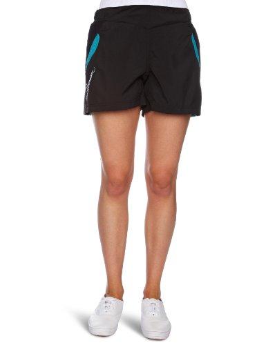 Salomon - Pantaloncini corti XT II Lite, da donna, nero (Black/Bay Blue), Xsmall