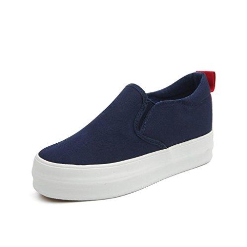 ALUK- Printemps Et Automne Chaussures De Souliers Coréen Casual Shoes Étudiants Set Foot Chaussures De Lazy ( couleur : Noir , taille : 37 ) Bleu